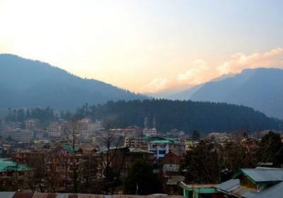 Manali View from Hotel Shandela terrace